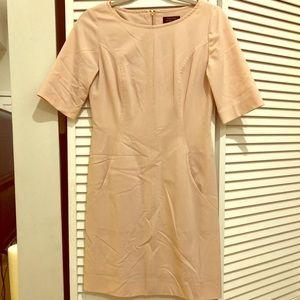 Tahari Arthur S. Levine blush pink sheath dress